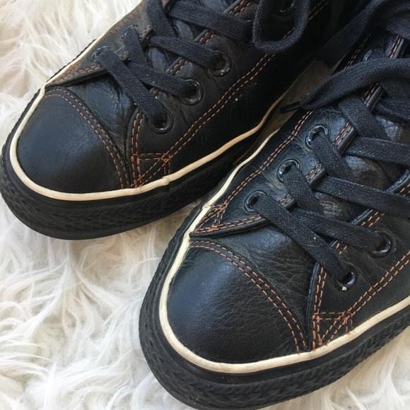 Vintage Brown Leather Sz 9.5 Converse Sneakers